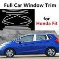 Хит продаж  яркая серебристая накладка на окно автомобиля для Honda  подходит для стайлинга автомобиля из нержавеющей стали  декоративные пол...