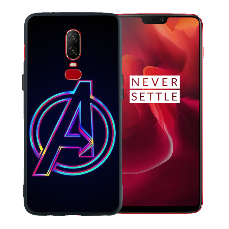 Luxury Marvel Avengers Super Heroes Deadpool Iron Man Soft Solicone Phone Case For Oneplus 6T Case 6 5 5T Cover Coque Etui in Fitted Cases from Cellphones Telecommunications