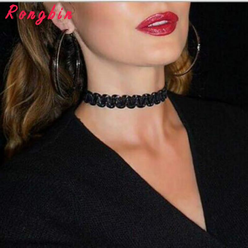 Summer Bohemia Jewelry Black Lace Wave Choker Necklace For Couple Lovers' Tattoo Chocker Femme Collier Collar Jewellery