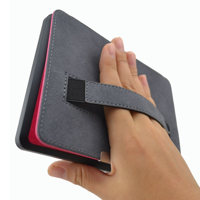 Solque Slim Leather ebook Case For Kindle Paperwhite 3 2 1 Fundas Hand Strap Hard Shell Flip Cover Crazy Horse Lines Wake Sleep цена и фото