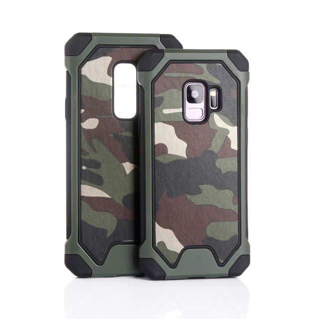 new style 95191 2af1a US $2.84 25% OFF|Army Camo Phone Case for Samsung Galaxy S9 S9 Plus  Camouflage Pattern PC TPU 2 in 1 Anti Shock Back Cover for Samsung S9+  Cases-in ...