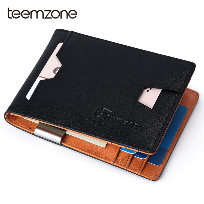 Teemzone 2018 New Men Wallets Small Money Purses Wallets New Design Dollar Price Top Men Thin Wallet With Coin Bag Wallet Q637 2018 new men wallets leather small money purses brand wallets dollar price high quality male thin wallet credit card holder bag
