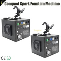 Touchable Spark Fountain Machine 2channels Sparkle Spark Waterfall DMX512 Machine with Remote Sparkular Spaying 1~5m