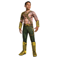 2018 NEW ARRIVAL Deluxe Child Muscle Dawn Of Justice Aquaman Halloween Costume Boys DC Justice League