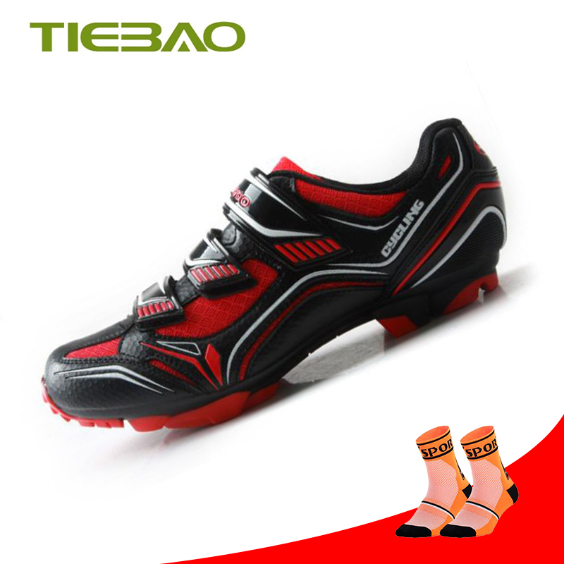 Tiebao Cycling Shoes sapatilha ciclismo mtb cycling Riding Bicycle mtb sneakers mountain bike SPD fietsschoenen triathlon shoes in Cycling Shoes from Sports Entertainment