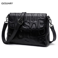 Gesunry 2017 New Genuine Leather Messenger Bag Ladies First Layer Of Leather Ladies Bag Handbag Shoulder