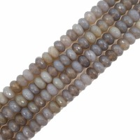 Pietra naturale Grigio Agate Abacus Forma Rotonda e Piatta Sfaccettato Beads Circa 6x10mm Branelli Allentati per Gioielli FAI DA TE 38 cm
