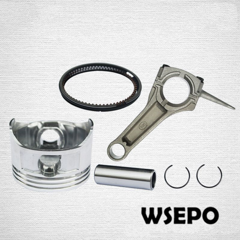 Chongqing Quality! Piston+Connecting Rod Kit(with Ring,pin, clip) for 188F/GX390 13HP 389CC Gas Engine,5~5.5KW Generator Parts