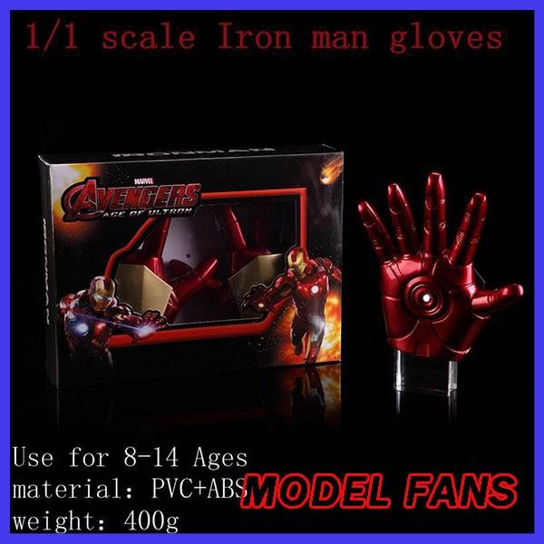 Modèle FANS livraison gratuite fer homme gants IRONMAN MK3 gants parfait version 1:1 mobile LED lumière Action figure jouets jouets classiques