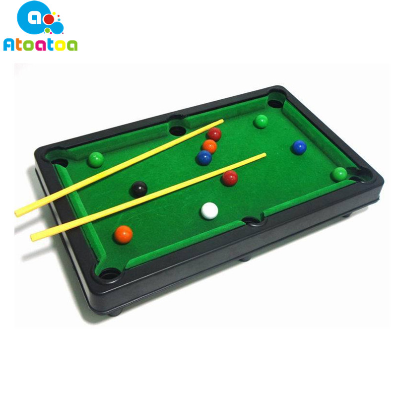 2018 New High Quality Children Billiards Toy Mini Table Game Set Kids Tabletop Pool Desktop Toy Sports Billiards Gifts