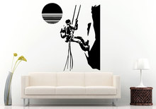 Creative Sport Wall Stickers Rock Climbing Into The Sunset Removable Decals Home Art Decor Positive Wallpaper Q-62