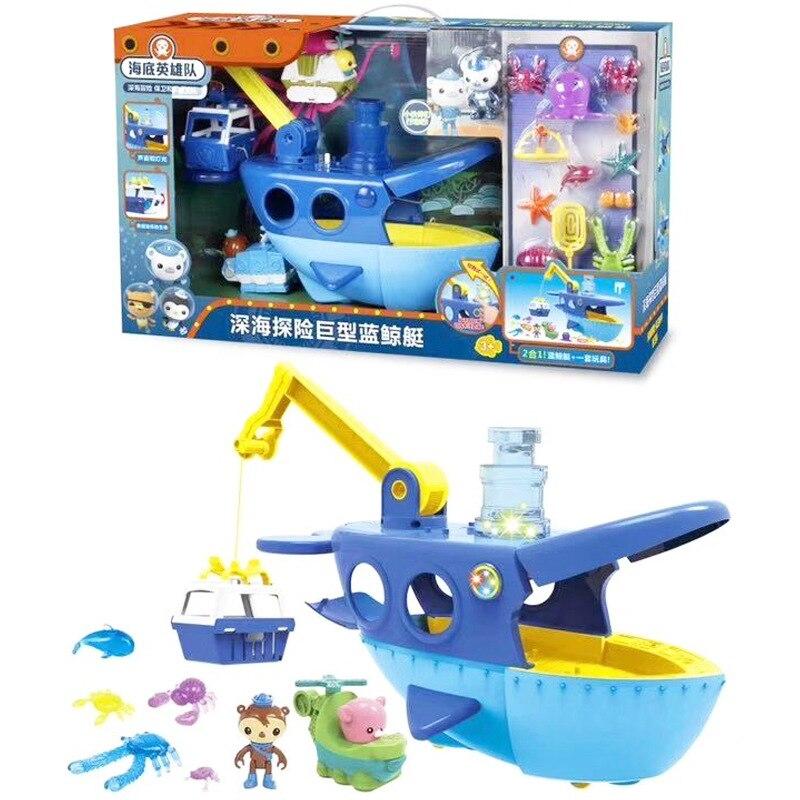 Octonauts jouet de plage grand navire avec son et lumière set brise-glace géant mer bleu baleine bateau enfants semblant jouets enfants jouet