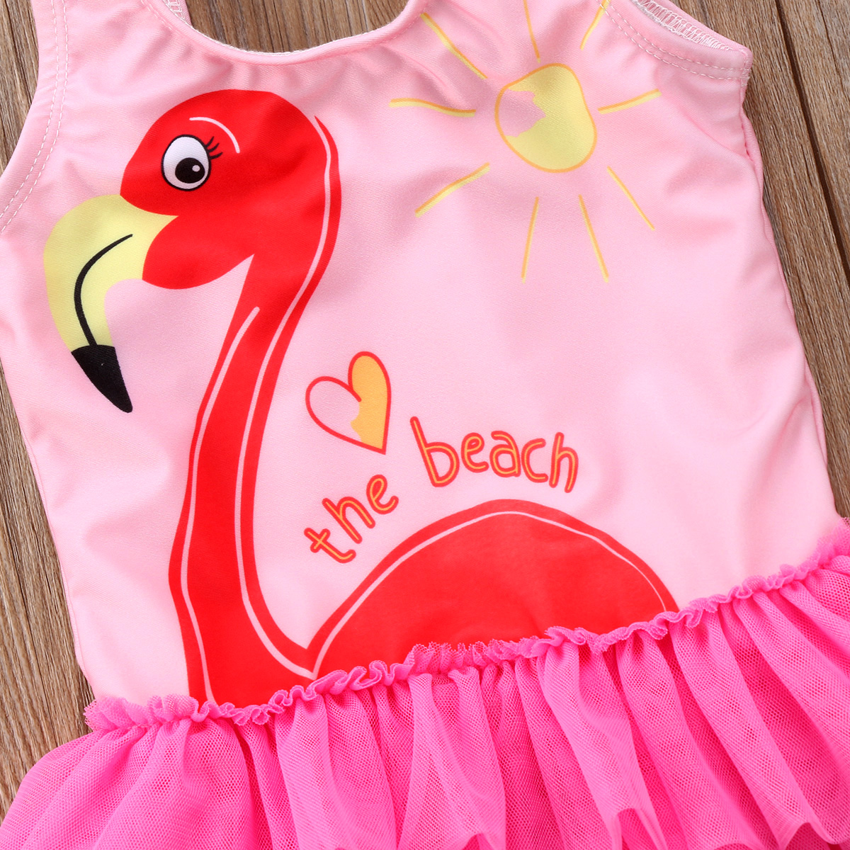1-6T Adorable Kid Baby Cute Girl Skirt Pink Lace Tankini Swimwear Swimsuit Bikini Beachwear