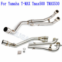 Motorcycle Modified Stainless Steel Exhaust Pipe Muffler FOR Yamaha T MAX Tmax500 TMAX530 2008 2009 2010 11 12 13 14 15 16 AK111