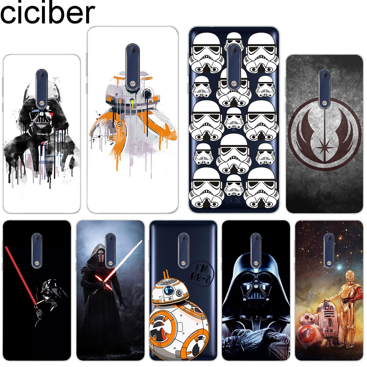 ciciber For Nokia 8 7 7.1 6 6.1 5 5.1 3 3.1 2 2.1 1 Plus Soft Silicone PhoneCase TPU For Nokia X7 X6 X5 X3 BB8 Star Wars Cartoon