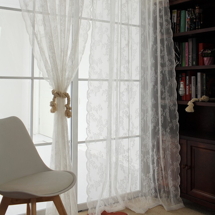 popular white lace curtainbuy cheap white lace curtain lots from,