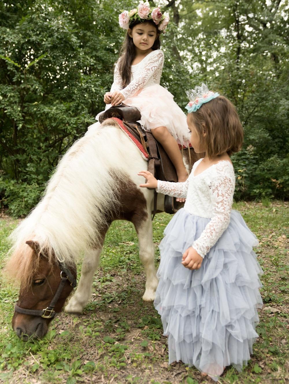 Flower Girl Dress 2018 For Wedding Princess Toddler Girl Dresses for A-Line First Communion Dresses Lace Kids Dresses for Girls цена