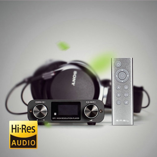 SMSL DP1 Digital Player USB SD Card 32bit Audio DAC with Built-in Headphone Amplifier High Resolution Music Player 5