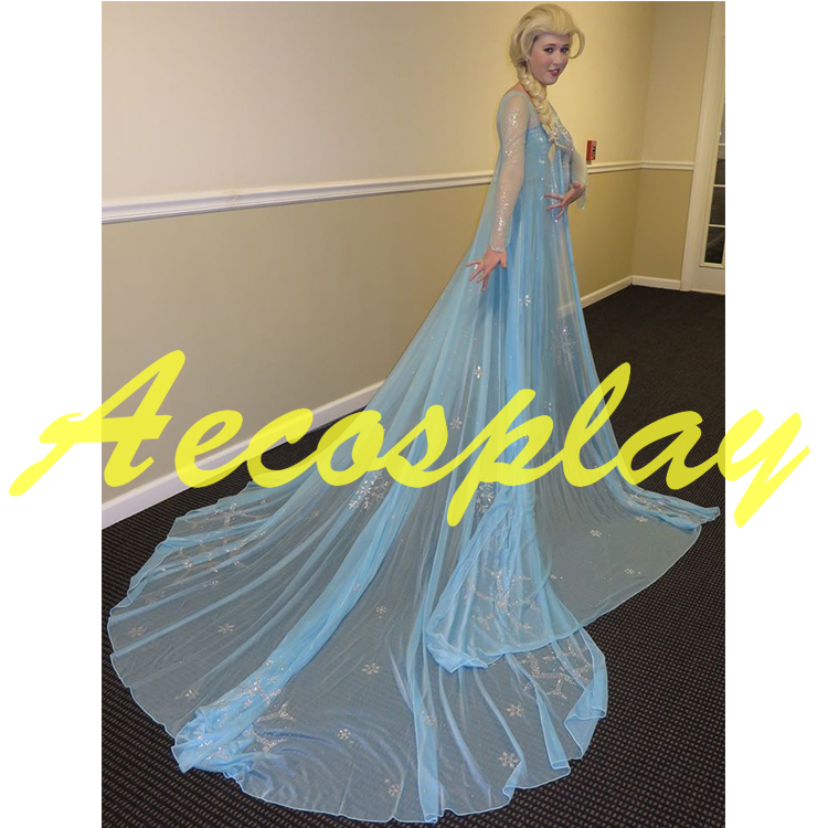 Princess Snow Queen Elsa Cosplay Crystal Gorgeous Gown Dress Fancy Dress Halloween Costumes for Women Halloween halloween queen cosplay dress