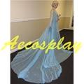 Princess Snow Queen Elsa Cosplay Crystal Gorgeous Gown Dress Fancy Dress Halloween Costumes for Women Halloween