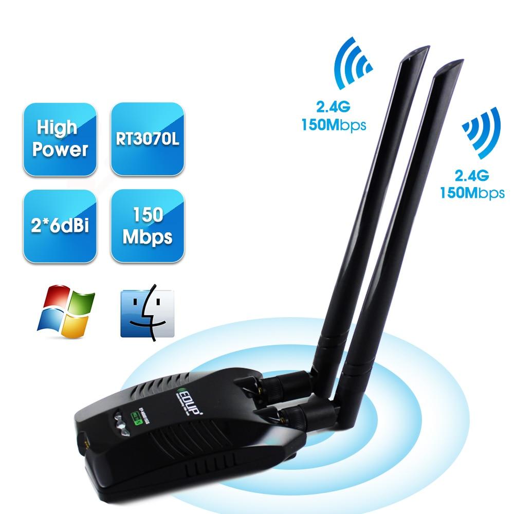 3000mW Wireless USB Wifi Adapter Long Range Dual 2 Antenna 802.11bgn 150Mbps