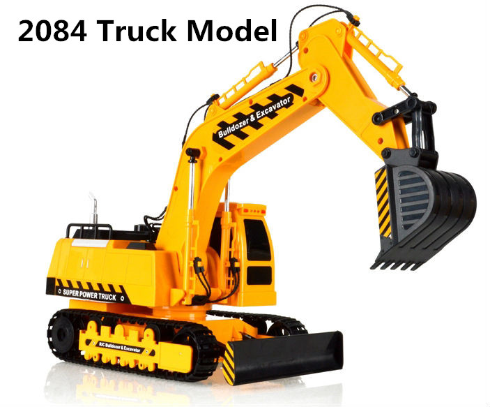 NEW large RC Engineering Truck four-wheelRC Excavator electric forklift controller charging children's toy boy VS HN28763 цены онлайн