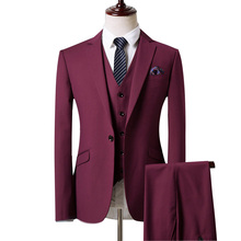 Classic Style Groom Tuxedos 3 Color Groomsman Suit Custom Made Man Suit As Wedding suit Homecoming Suits (Jacket+pants+vest)