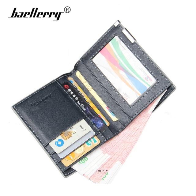 autorisierte Website Auf Abstand sehr bekannt US $10.89 |Baellerry Luxus Männer Brieftaschen Metall Side Männer Mini  Geldbörse herren Leder Multi card bit Brieftasche Marke kleine Männlichen  ...