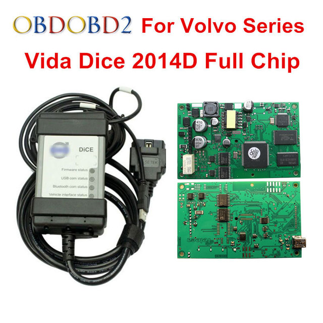 Multi Function For Volvo Vida Dice Pro Diagnostic Tool 2014D With Multi language Full Chip Green PCB For Volvo Dice Vida