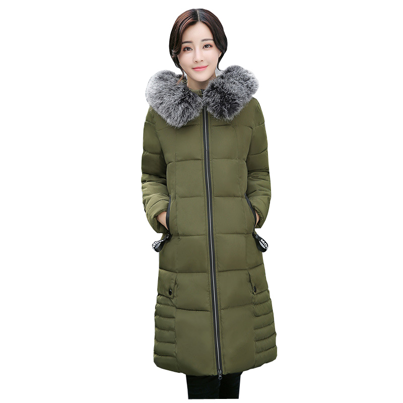 Hot sale 2018 Promotion Down   Parka   Women Big Fur Time-limited Long Cotton Korean Body Thickening Warm Hat Coat
