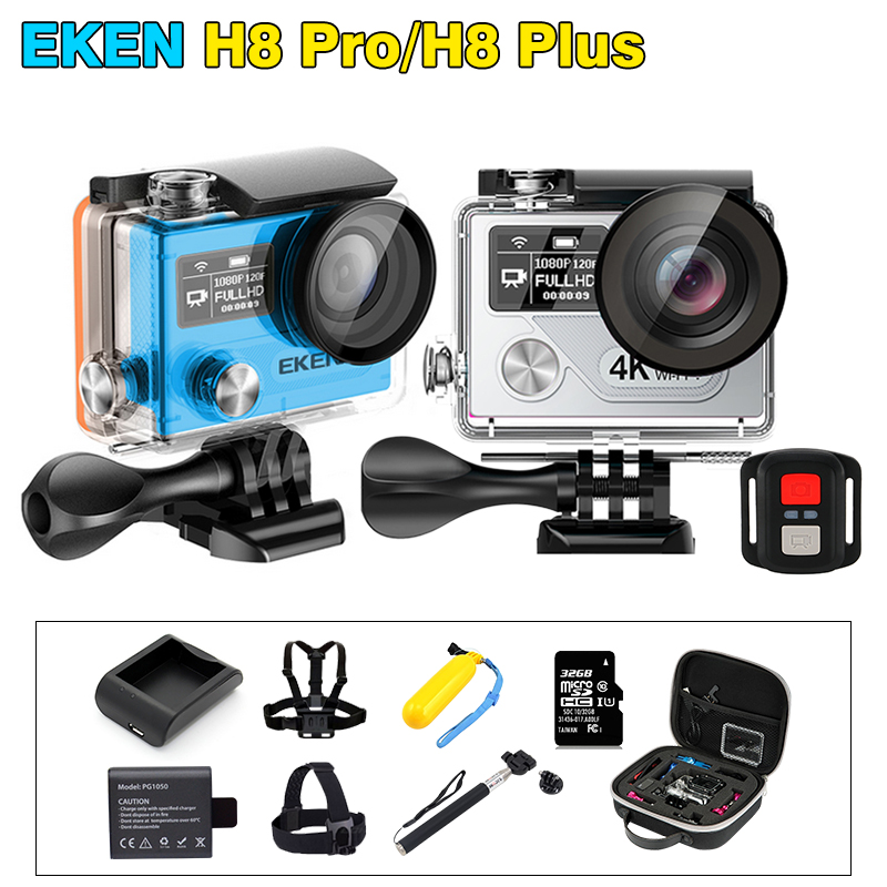 EKEN H8 Pro ultra 4K/30fps Ambarella A12 & H8 plus 1080p/120fps Action camera go waterproof Sport camera gopro style with remote