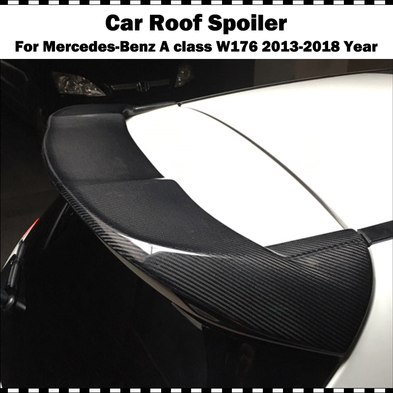 <font><b>W176</b></font> Piecha Style Carbon fiber Car <font><b>Rear</b></font> Roof Wing <font><b>spoiler</b></font> For <font><b>Mercedes</b></font>-Benz <font><b>A</b></font>-<font><b>Class</b></font> <font><b>W176</b></font> A180 A200 A220 A250 A45 AMG 2013-2018 image