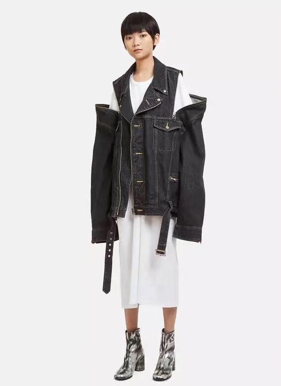 Manteau Denim Mode Off Ddxgz3 Veste 2018 Femmes Épaule czYwR8wXq