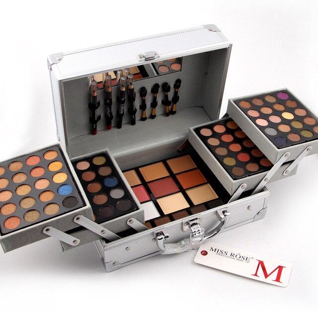 80 Colors Eye shadow Matte Blush Mirror Contour Palette Concealer Lipstick Case Suitcases Makeup Kit MISS ROSE Cosmetic Case