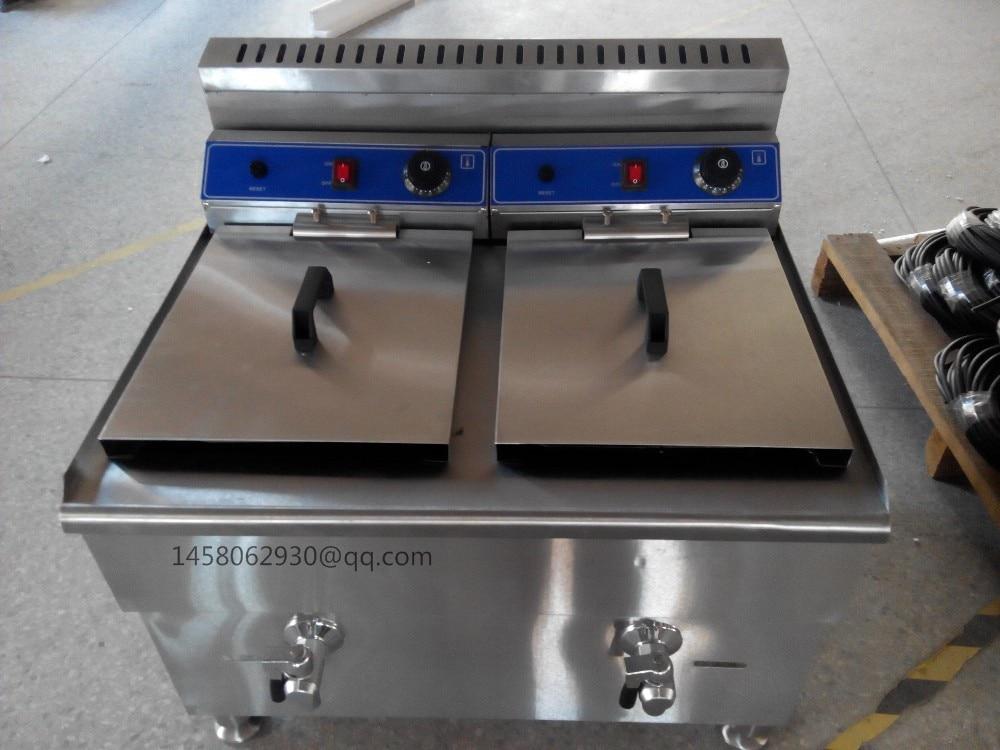 Stainless Steel Counter Top 36L capacity Gas Fryer/Gas bench top deep fryer/cooking equipment of deep fryer