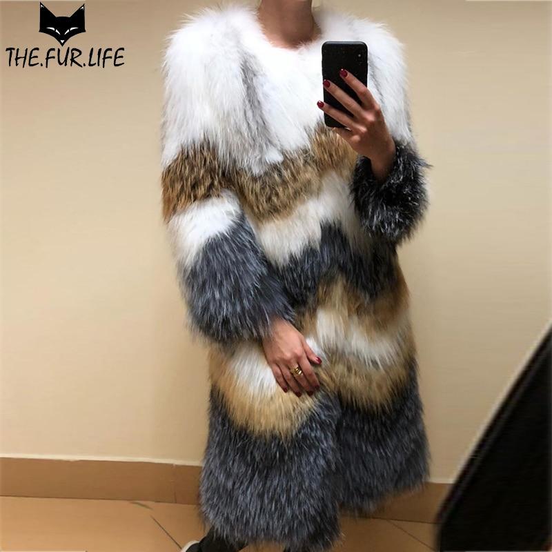 Raie Raton Laveur Vestes Tops Extérieur Nature D'hiver Vêtement Fourrure 2018 Femmes As Fourrures Tricoté Véritable Manteau Chien Mode Picture Veste De Pour r7PrxwI