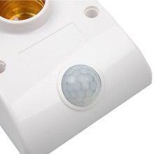 Infrared IR Sensor LED Lamp Light Base Holder Standard Bulb 110v/ 220vAutomatic Wall Light 80W Socket PIR Motion Detector
