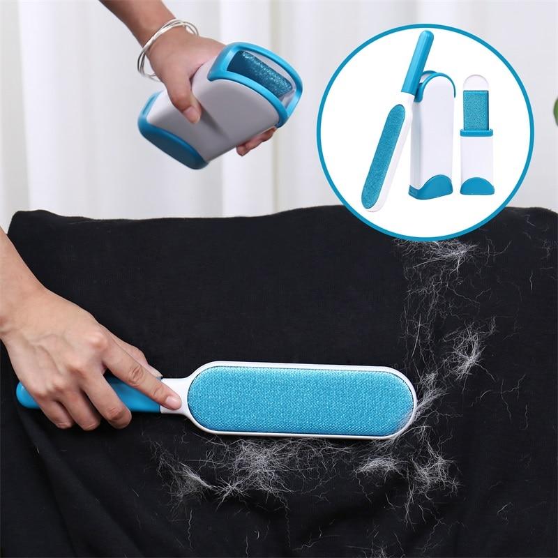 Dropshipping Pet Haarentferner Pinsel Pelz Und Lint Removal Pinsel mit Selbst-Reinigung Basis Reinigung Slicker Pinsel für Hunde katzen