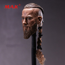 High Quality 1:6 Scale Mens Head Sculpt Viking Travis Fimmel with Braid fit 12 Action Figures Dolls for Collection Gifts