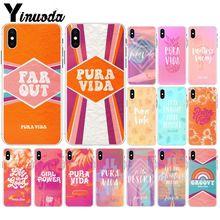 Yinuoda la Pura Vida DIY impresión dibujo teléfono funda carcasa para iPhone 6S 6plus 7 7plus 8 8 plus X Xs X MAX 5 5S XR