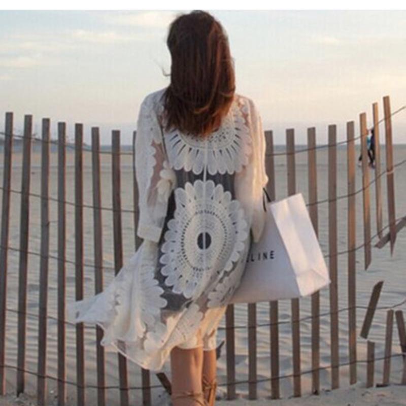 Sexy Sarongs Bikini Beach Tunic Crochet Beach Cover Up Bathing Suit Plus Size White Robe De Plage Swimsuit Women Cover-Ups pareo 6