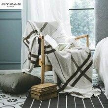 XYZLS Nordic Style Merino Wool Blanket High Grade Knitted Blankets For Sofa Bed Throw Travel Manta Warm Blanket Bedspread цена