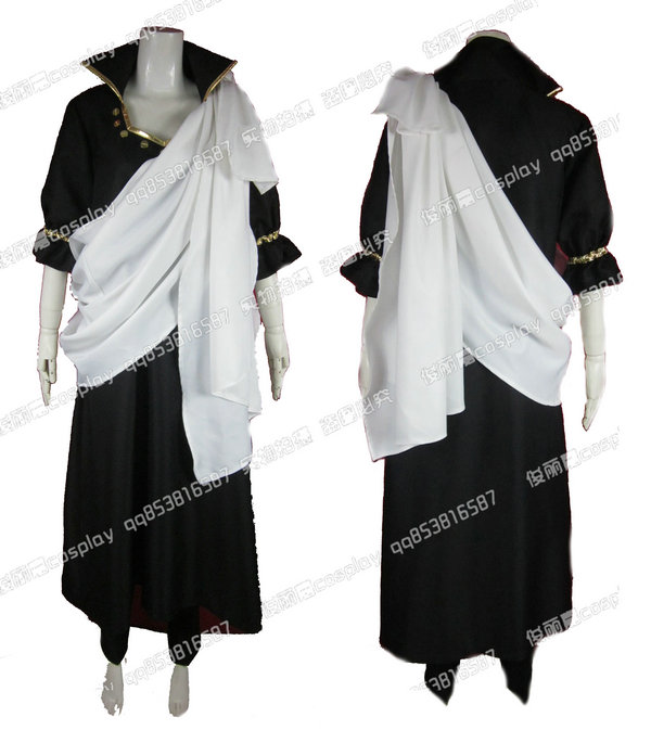 2017 Fairy Tail Zeref Cosplay Costume Christmas Party Halloween Custom Made