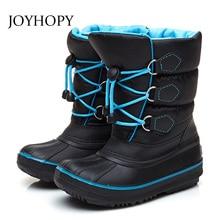 3a12de34f68a2 Enfants bottes de neige pour filles garçons chaussures d hiver 2018 qualité  épaisse chaussures pour enfants imperméable enfants .