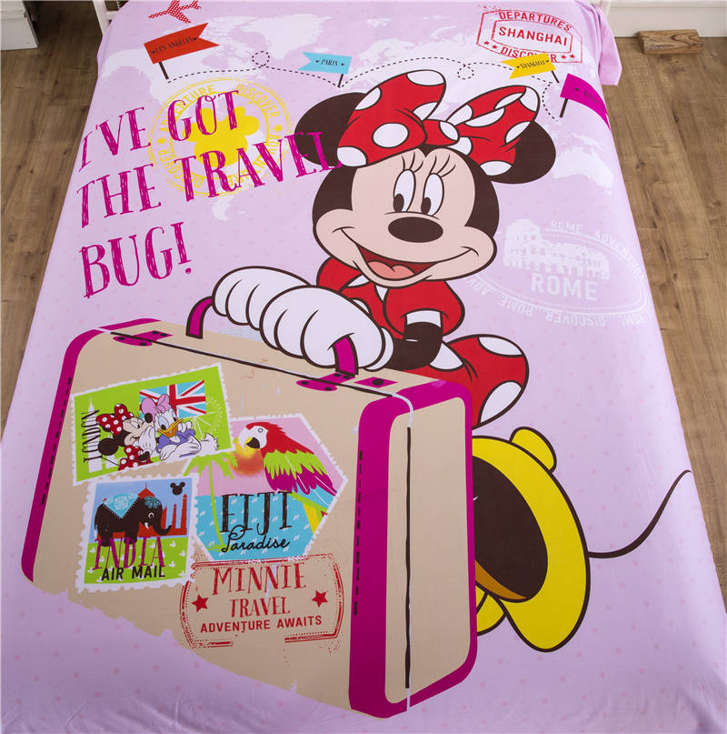 pink color minnie mouse bedding sets for girls home decor cartoon bedspread cotton quilt/duvet cover comforters twin queen sizepink color minnie mouse bedding sets for girls home decor cartoon bedspread cotton quilt/duvet cover comforters twin queen size
