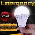 Inteligente Lâmpada Led E27 AC 110 V 220 V Alimentado Por Bateria Recarregável De Emergência Lâmpadas Led 5 W 7 W 9 W 12 W 15 W Ao Ar Livre Tecnologia Levou