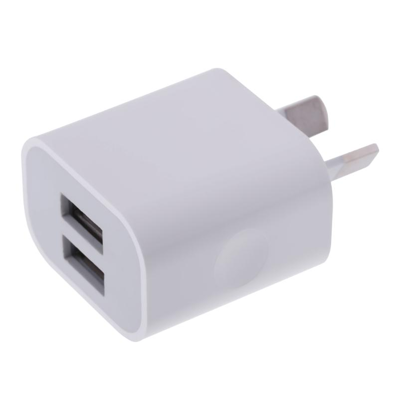 Alloet AU Plug 5V 2A Dual USB Port Power Adapter Travel Wall Quick Charger for Sumsung Huawei Xiaomi Phones Tablet