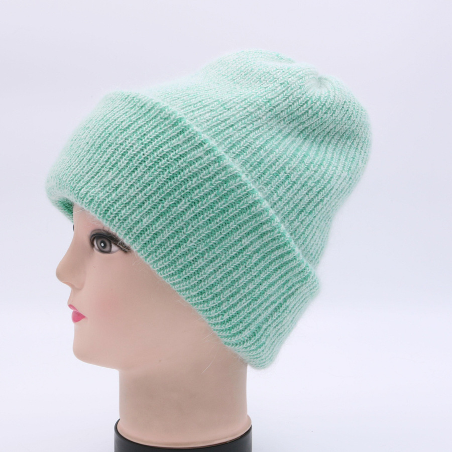 [Rancyword] Hot Selling Winter Skullies Thicker Warm Hat For Women Wool Knitted Hat Beanies Cap Solid Color Sets Headgear RC1232 skullies hot sale candy sets color pointed hat knitting hat sets hat cap 1866951