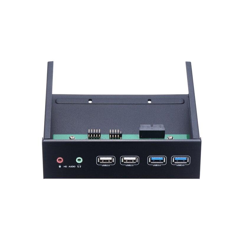 2 * USB3.0 + 2 * USB2.0 + 2 * HD Audio centrum 5.25in napęd optyczny pc bay z aluminium panel w Obudowa dysku twardego od Komputer i biuro na AliExpress - 11.11_Double 11Singles' Day 1