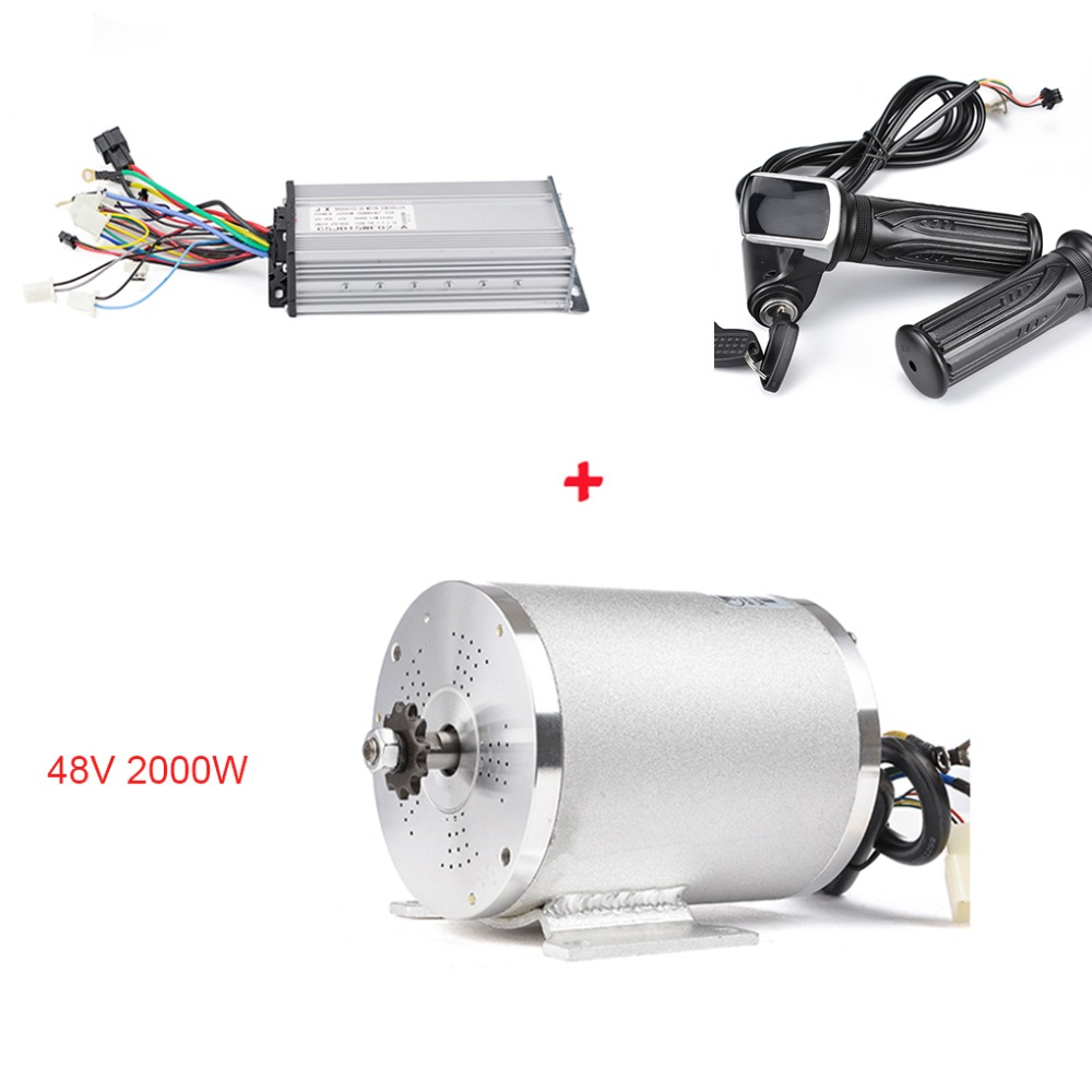 Electric Scooter Ebike Conversion Kit BLDC 48V <font><b>2000W</b></font> 4600RPM 5N.m <font><b>Motor</b></font> with 15 MOSFET 32A MY1020 <font><b>Brushless</b></font> <font><b>DC</b></font> <font><b>Motor</b></font> Controller image